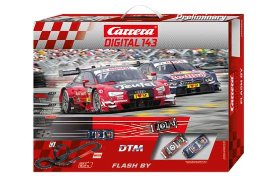 circuit-slot Carrera DTM Flash By