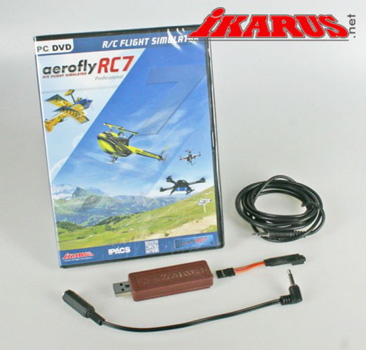 simulateur Ikarus Aerofly RC7 Pro + cable Spektrum